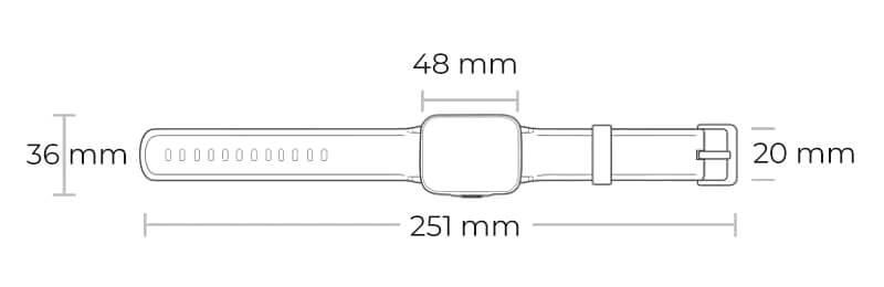 ابعاد ساعت هایلو Ls02